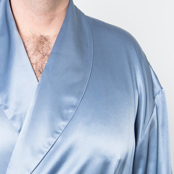 Forsters Finery Silk Blue Men's Robe