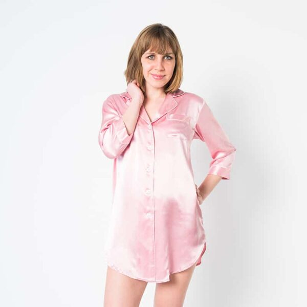 Forsters Finery Mulberry Silk Pink Ladies Nightshirt