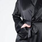 Forsters Finery Silk Black Men's Robe