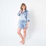Forsters Finery Silk Twilight Blue Ladies Nightshirt