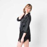 Forsters Finery Silk Black Ladies Nightshirt