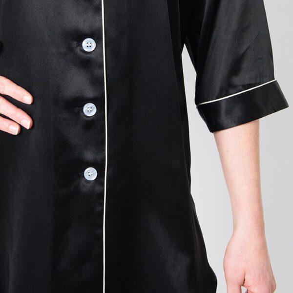 Forsters Finery Mulberry Silk Black Ladies Nightshirt