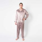 Forsters Finery Silk Champagne Men's Pajamas Set