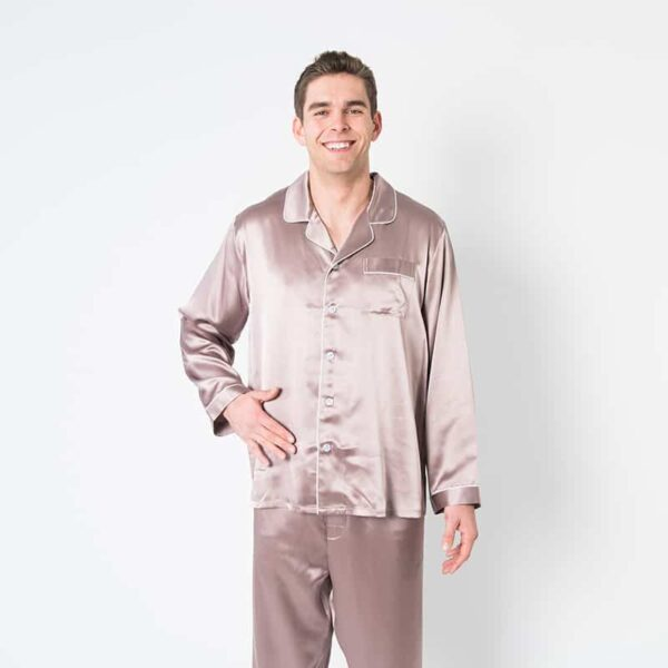 Forsters Finery Silk Champagne Men's Pajama Set