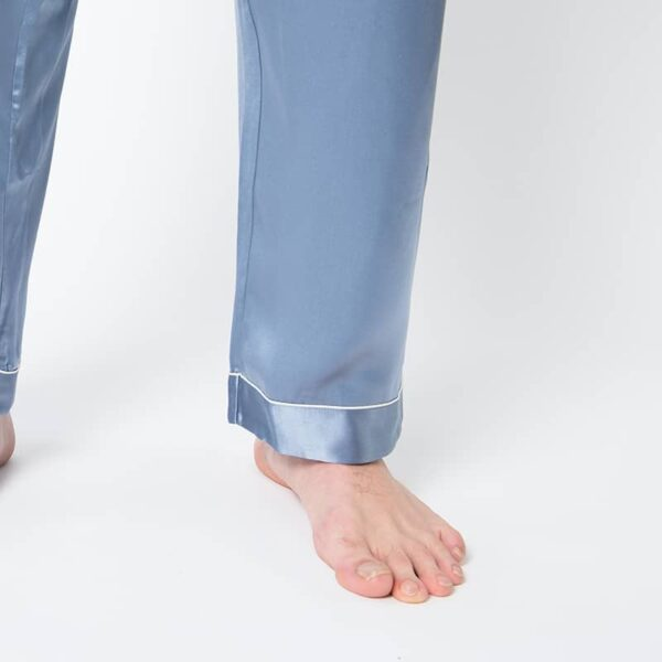 Forsters Finery Silk Blue Men's Pajama Set