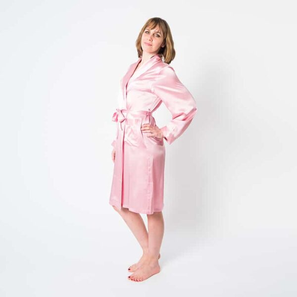 Forsters Finery Mulberry Silk Pink Ladies Robe