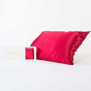 Forsters Finery - Pure Silk Pillowcases - Red