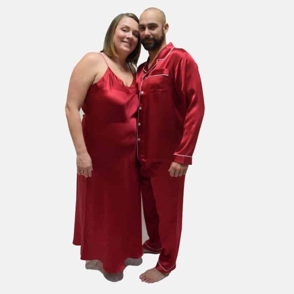 Forsters Finery Silk Red Men's Pajama Set